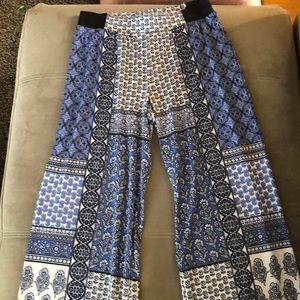 Paisley wide leg Gypsy pants.